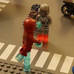 Awesome final battle. #Final #Battle #Fight #Ultron #IronMan #Marvel #Comics #AvengersAgeofUltron #Film #Movie #Road #Set #Scene #LEGO #MOC #Minifigures #Creation #Photo #JHFilms #Instagram #Account #Picture #Suit #Robot #Bike #Ants #Duel #Good #Evil #TonyStark by jh_films_official