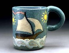 Jane Peiser . Espresso Cup . Sailboat