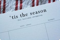 Christmas List Printable.