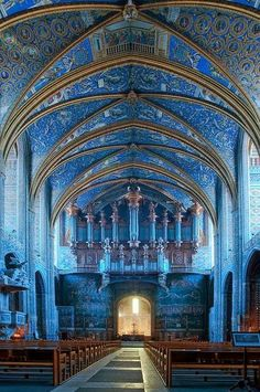 Cathedrale de Sainte-Cecile d'Albi, France Also known as the Albi Cathedral Oh The Places You'll Go, Cool Places To Visit, Albi France, Beautiful Buildings, Beautiful Places, Amazing Places, Wonderful Places, Simply Beautiful, Modern Buildings