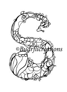 Check out this item in my Etsy shop https://www.etsy.com/listing/242344941/instant-download-coloring-page-letter-s