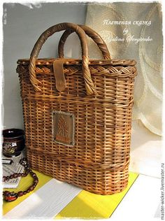 плетеная сумка, летняя сумка, сумка-корзина, корзина с крышкой, плетеная…