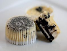 oreo cheesecake cupcakes- do orange dye for halloween :)