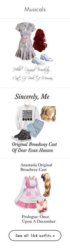 """""""Musicals"""" by sjc1999 ❤ liked on Polyvore featuring Zimmermann, Converse, Roberto Coin, hello, originalbroadwaycastofbookofmormon, Stella + Ruby, sincerelyme, originalbroadwaycastofdearevanhansen, anastasiaoriginalbroadwaycast and prologueonceuponadecember"""