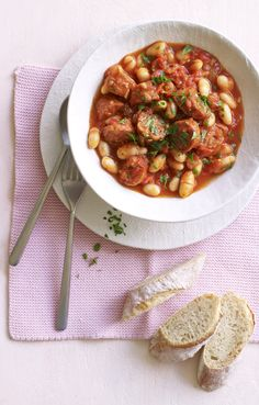 Spice up your stew with chorizo and stir in some cannellini beans for a super dinner on a budget