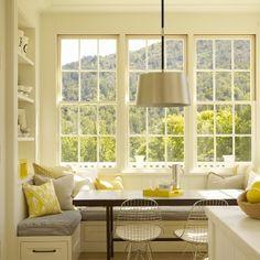Bay window kitchen nook