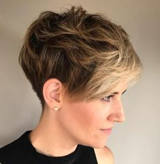 Messy Tapered Pixie #PixieHairstylesCurly