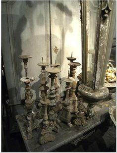 candlesticks wooden