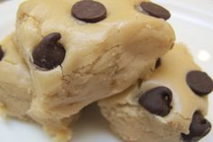 Chocolate Chip Cookie Dough Fudge | at350degrees