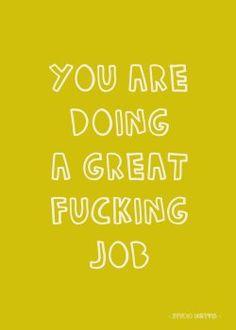 Studio Inktvis - you are doing a great fucking job kaart (Voorzijde)