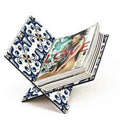 Revisteiro Azulejo Azul - StickDecor   Decoração Criativa