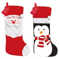 Penguin & Santa Kids Christmas Stocking - 2 Designs Listing in the Other,Christmas,Occasions & Seasonal Category on eBid United Kingdom | 150357371