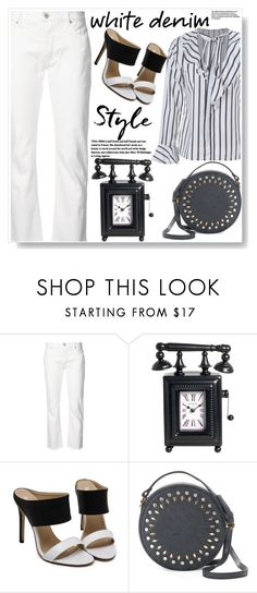 """""""Bright White: Summer Denim"""" by ucetmal-1 ❤ liked on Polyvore featuring Nili Lotan, Olivia Miller and whitejeans"""