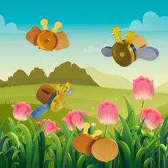 See the bugs flying and having some food! Tweety, Wooden Toys, Bugs, Pikachu, Educational Toys, Creative, Fictional Characters, Food, Woodworking Toys