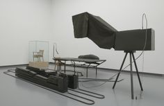 Mark Manders . chair / staged android (reduced to 88%), 1996-98