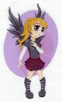 Machine Embroidery Designs at Embroidery Library! - Fairies Anime
