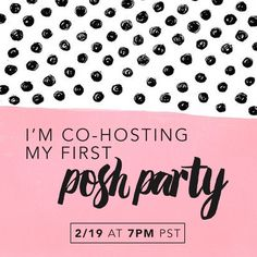 ❤️I'M CO-HOSTING MY FIRST POSH PARTY!❤️ I'm so excited to be co-hosting my first Posh Party on 2/19 at 7PM PST with my sister @jrcxx89! We'll be looking for great pieces to feature as host picks, so be sure to like and share this post to have your closet considered for a pick! Only closets that are 100% Posh-compliant will be considered (: Other