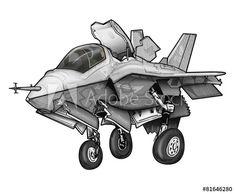 Fighter Jet Cartoon