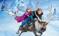 Frozen Anna Olaf Sven Kristoff Wallpaper