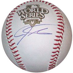 Texas Rangers Josh Hamilton Autographed 2010 World Series Baseball