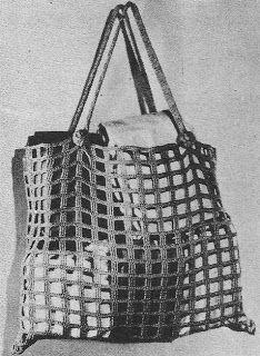 1947 Market Shopping Bag Vintage Crochet Pattern PDF by annalaia Vintage Crochet Patterns, Vintage Knitting, Crochet Handbags, Crochet Purses, Handmade Handbags, Handmade Bags, Mochila Crochet, Tops Vintage, Crochet Purse Patterns