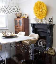 Popsugar 5 weekly inspiring spaces- I want a feathered juju hat!