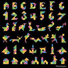 Tangrams for Teachers: Wall Tangrams for Art Classes at Kermit Booker Elementary School, Las Vegas!