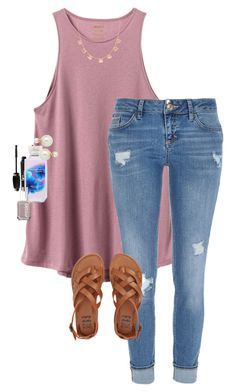 """""""Do you like the snapchat update???"""" by erinlmarkel ❤ liked on Polyvore featuring RVCA, River Island, Billabong, It Cosmetics, Forever 21, Essie and Blu Bijoux"""