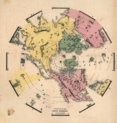 Townsend, Dennis.   (Globe Gores) (Northern Hemisphere). Patented by Dennis Townsend, Feb. 16, 1869.