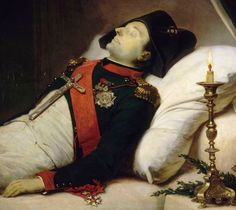 Jean-Baptiste Mauzaisse    Detail from Napoleon I on His Death Bed, 1843