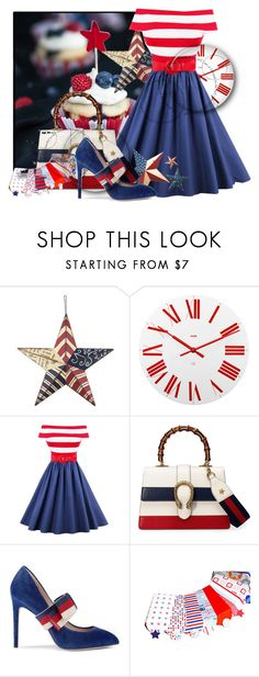 """""""Red, White, and Blue Foods"""" by teamfreewillspn ❤ liked on Polyvore featuring Alessi and Gucci"""