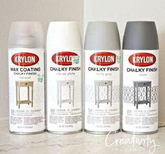 Hacking New Krylon Chalk Paint Finish in a Spray Paint. Krylon Chalky Finish Double Your Space With Chalk Spray Paint, Chalk Paint Finishes, Chalk Paint Projects, Paint Stain, Chalk Paint Furniture, Krylon Spray Paint Colors, Spray Paint Dresser, Spray Paint Table, Flip Furniture