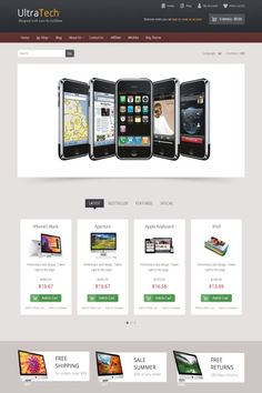 IceUltraTech Responsive Theme for Electronics - Empower your buyers today with Ice UltraTech Premium OpenCart Theme. The beautiful design of the theme and the simplicity of layout will turn your website visitors into shoppers right away. Demo: http://demo.icetheme.com/opencart/?theme=ice_ultratech