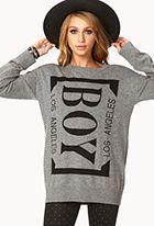 $23 Longline Boy Los Angeles Sweater forever21.com