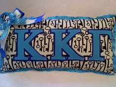 Kappa Kappa Gamma Greek letter Sorority Key Pillow by MamaBern, $20.00
