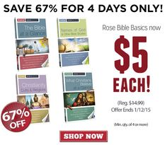 Discounts coupon codes and deals for rose publishing books and 5 rose bible basics sale grab these popular books for just 5 for four days fandeluxe Gallery