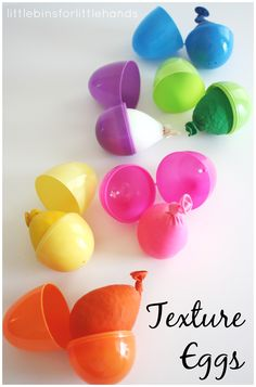 Texture Eggs Tactile Sensory Play Activity from Little Bins for Little Hands