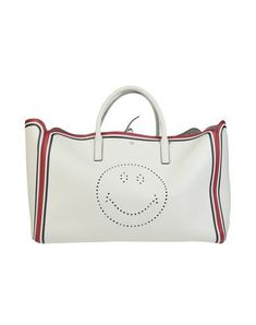 Anya Hindmarch Handbag In Ivory Anya Hindmarch Handbags, Anya Hindmarch Fashion, Hand Bags, World Of Fashion, Luxury Branding, Ivory, Textiles, Pocket, Leather