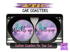Buckle up Buttercup Car Coaster Set, Mermaid Coasters, Gift Basket Idea for Daughter, Gift for Mothe Teen Girl Birthday, Birthday Gifts For Girls, Mom Birthday Gift, Mother Birthday, Grandpa Birthday, Birthday Ideas, Wedding Gifts For Couples, Personalized Wedding Gifts, Unique Gifts For Her