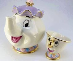 Disney Beauty and The Beast Tea Pots