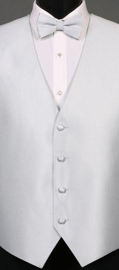 Silver Bradbury Vest and Bow Tie By Larr Brio