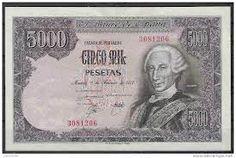 Antiguo #Billete de $ 5.000 #Pesetas del #BancoDeEspaña