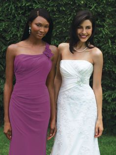 Allure 1201 bridesmaid dress, from the Allure Bridesmaids collection of wedding gowns.  #timelesstreasure