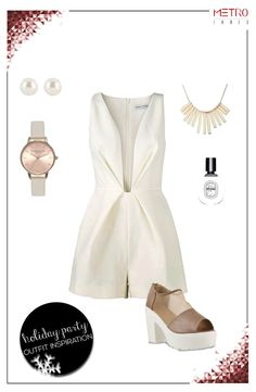 Pearl – perfect! Give your demure white jumpsuit a new lease on life with these exaggerated block heels.