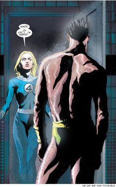 Invisible Woman and Namor by Jae Lee and Jose Villarubia    Read More: http://www.comicsalliance.com/2012/12/07/best-art-ever-this-week-12-07-12/#ixzz2EOG1ndiO