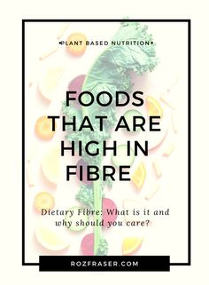 Are you trying to increase the fibre in your diet? You need to know which foods are high in fibre. Can you eat too much? Fibre is an important part of all our diets. The Standard American Diet is almost always low in fibre contributing to all sorts of health problems. Learn about healthy sources of fibre, how much fibre you should eat and which foods are high fibre foods. Visit rozfraser.com to read more... Vegetarian Lifestyle, Vegetarian Lunch, Vegetarian Dinners, Veggie Food, Veggie Recipes, High Fibre, Plant Based Snacks, American Diet, Drink Photo