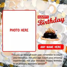 Birthday Three Layer Cake Image With Name And Photo Birthday Cake For Daughter, 2nd Birthday Photos, Birthday Wishes With Name, Happy Birthday Cake Photo, Happy Birthday Wishes Photos, Birthday Wishes Flowers, Birthday Wishes For Boyfriend, Birthday Photo Frame, Happy Birthday Frame