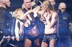 UFC President Dana White was front and center for the UFC 193 weigh in altercation between main event fighters Ronda Rousey and Holly Holm inside Etihad Stadium yesterday (Fri. Muay Thai, Kickboxing, Jiu Jitsu, Holly Holm Ufc, Ronda Rousey Mma, Rowdy Ronda, Ufc Women, Mma Boxing, Female Fighter