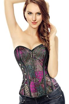Fall inlove slow and hard with steampunk fashion starting with our Atomic Purple Patchwork Steampunk Overbust Corset. Get  it here: https://atomicjaneclothing.com/products/atomic-purple-patchwork-steampunk-overbust-corset