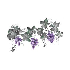 Large Grape VIne ($45) ❤ liked on Polyvore featuring home, kitchen & dining, flowers, backgrounds and fillers